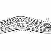 Stampendous - Penpattern Winter Border - Cling Rubber Stamp - CRY028